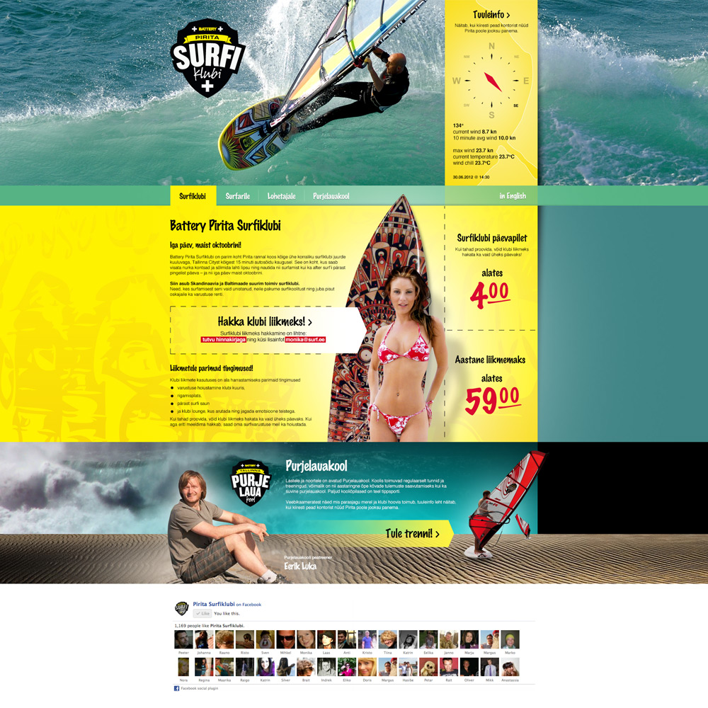 Pirita Surfiklubi veeb