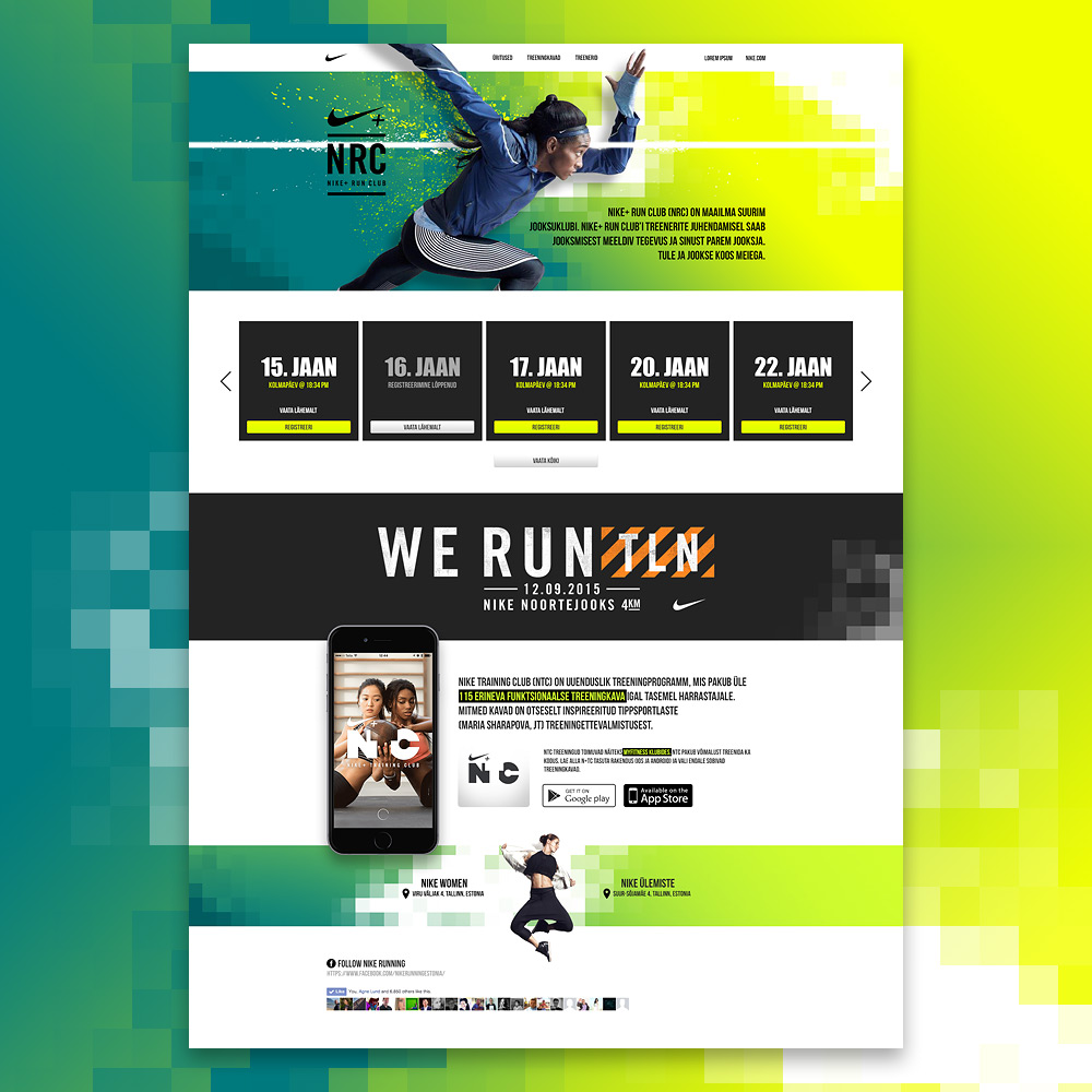 Nike Training Club'i veeb