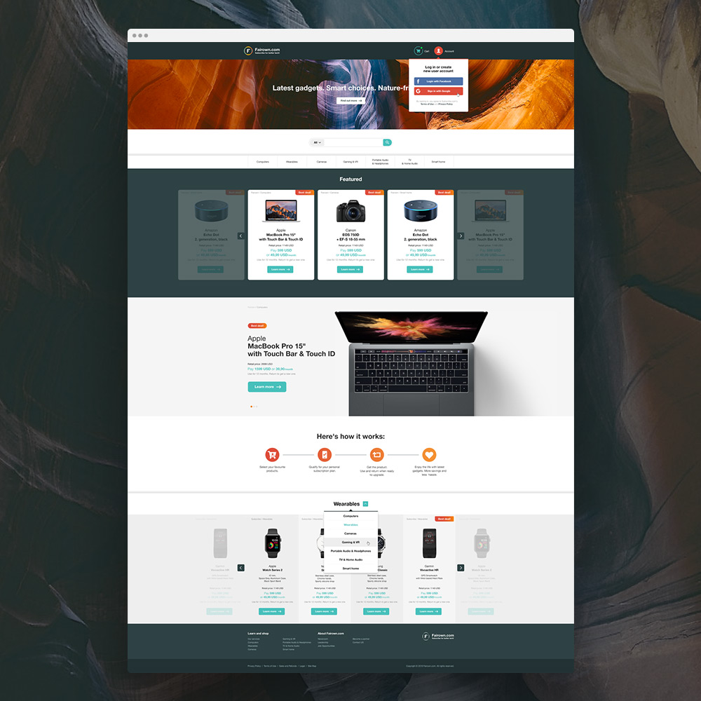 Fairown'i logo ja veeb