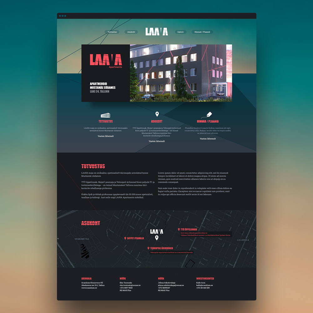 Laava logo ja veeb